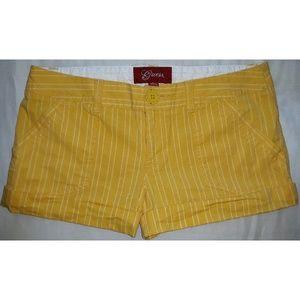 Guess Pinstripe Yellow Shorts